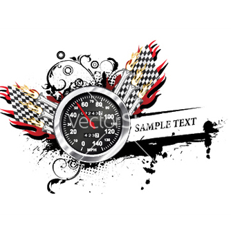 Free speedometer with grunge vector - Free vector #245761