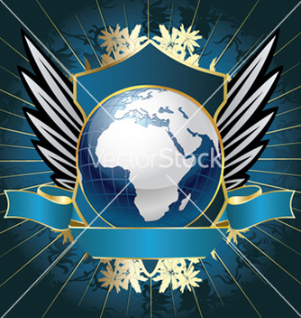 Free globe emblem vector - Free vector #245991