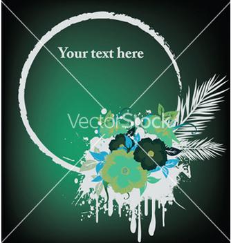 Free splash floral frame vector - бесплатный vector #246101