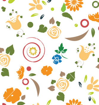 Free floral seamless pattern vector - Kostenloses vector #246351