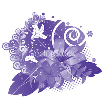Free abstract floral vector - Free vector #246501