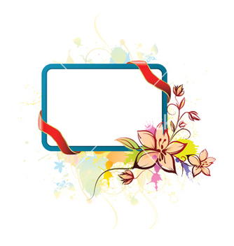 Free watercolor floral frame vector - Free vector #246691