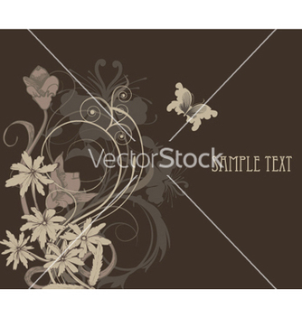 Free vintage background with floral vector - Kostenloses vector #246901