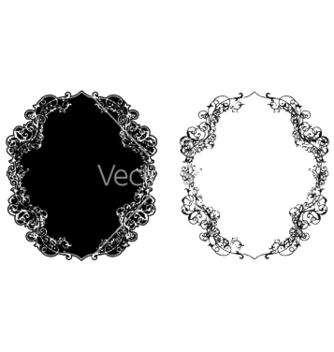 Free retro floral frame in two different styles vector - Kostenloses vector #246961