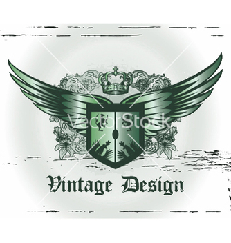 Free crown with wings and shield vector - Free vector #247001