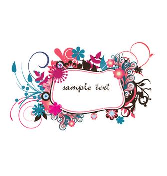 Free spring floral frame vector - Kostenloses vector #247071