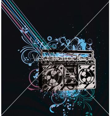 Free retro concert poster vector - Free vector #247231
