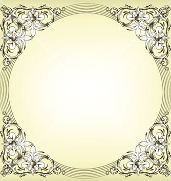 Free baroque floral frame vector - Free vector #247271
