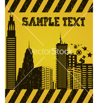 Free vintage city background vector - Free vector #247511
