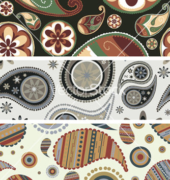 Free paisley web banners vector - Free vector #247621