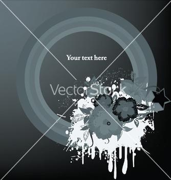 Free splash floral frame vector - бесплатный vector #247761