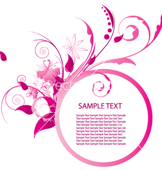 Free floral frame vector - Kostenloses vector #247971