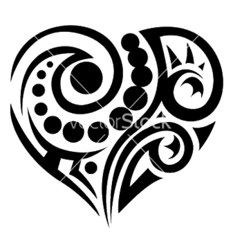 Free tatoo heart vector - Free vector #248061