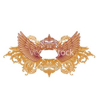 Free baroque emblem vector - Free vector #248071