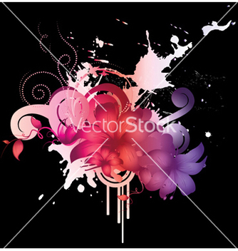 Free watercolor floral vector - vector gratuit #248151