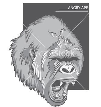 Free raging gorilla vector - Kostenloses vector #248181