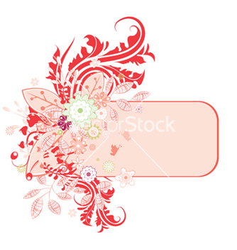 Free floral frame vector - Kostenloses vector #248291