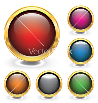 Free glossy buttons vector - Free vector #248431