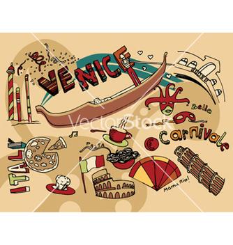 Free venice doodles vector - Free vector #248511