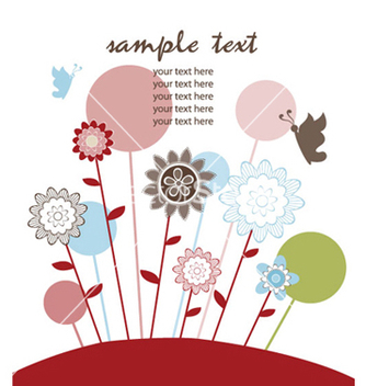 Free spring floral background vector - Kostenloses vector #249111