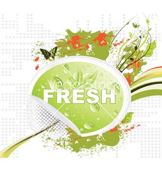 Free bio sticker with floral vector - Kostenloses vector #249711