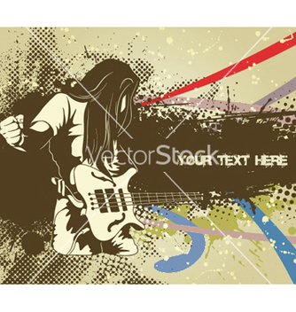 Free man with guitar vector - Kostenloses vector #249741