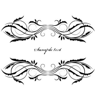 Free vintage floral frame vector - Free vector #249801
