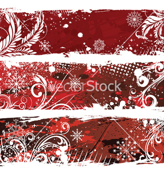Free christmas web banners vector - Free vector #249841