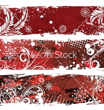Free christmas web banners vector - vector gratuit #249841