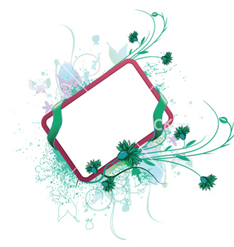 Free watercolor floral frame vector - Free vector #250101