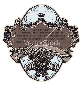 Free vintage label with floral vector - Free vector #250261