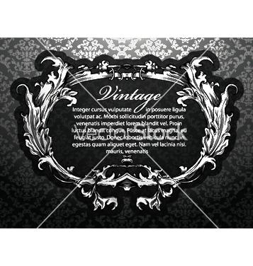 Free vintage floral frame vector - бесплатный vector #250411