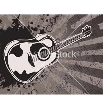 Free music wallpaper with guitar vector - Free vector #250481