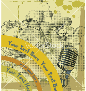 Free concert poster with microphone vector - бесплатный vector #250531