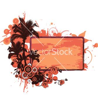 Free grunge summer floral frame vector - Free vector #250561