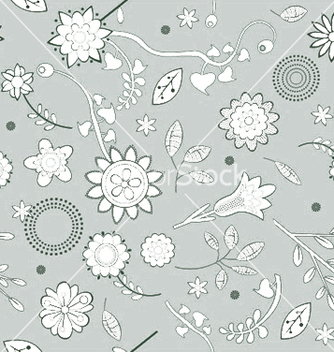 Free seamless floral background vector - Free vector #250931