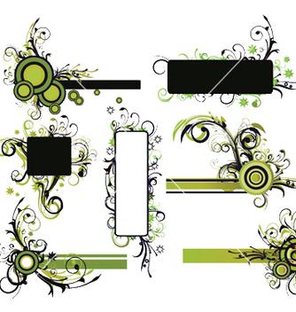 Free vintage floral frames set vector - Free vector #251361