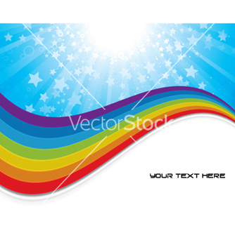 Free background with rainbow vector - Kostenloses vector #251431