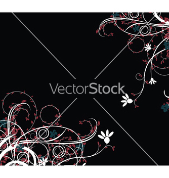 Free abstract floral background vector - Free vector #251451