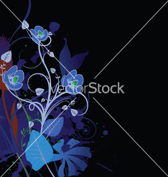 Free splash floral background vector - vector gratuit #251521