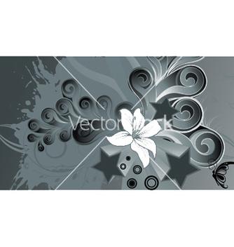 Free splash floral background vector - vector #251561 gratis