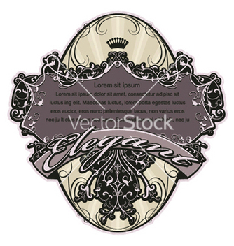 Free vintage label with floral vector - Free vector #251641