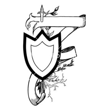 Free vintage emblem with shield vector - Kostenloses vector #251781
