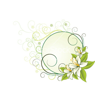 Free floral frame vector - Free vector #251961
