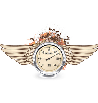 Free speedometer emblem vector - Free vector #251991