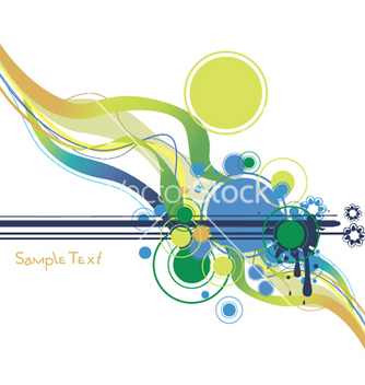 Free abstract background with splash and waves vector - Free vector #252011