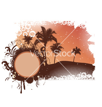 Free summer with palm trees vector - vector gratuit #252121