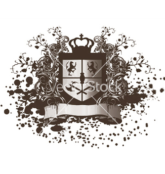Free shield with scroll vector - Free vector #252151