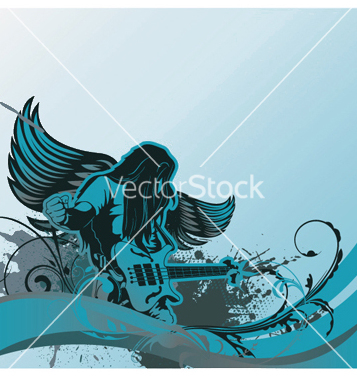 Free concert poster with guitar player vector - Free vector #252251