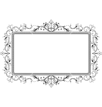 Free retro floral frame vector - Free vector #252481